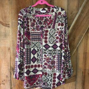 Westport printed blouse plus size